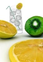 lemon, lemonade, kiwi