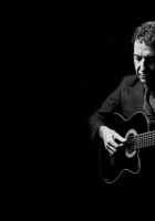 leonard cohen, guitar, suit