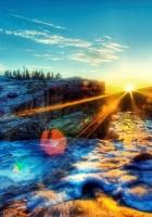 light, foam, sky