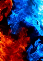 lights, flames, black background
