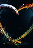 line, heart, colorful
