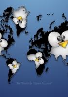 linux, black, penguin