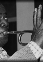 louis armstrong, pipe, eyes