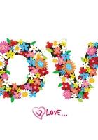 love, inscription, flowers
