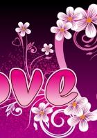 love, pink, inscription