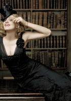 madonna, dress, library