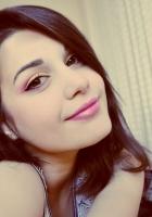 make-up, girl, brunette