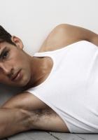 man, t-shirt, dark-haired