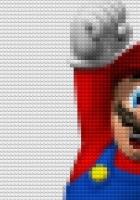 mario, mustache, hand