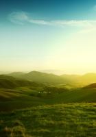 meadows, hills, green