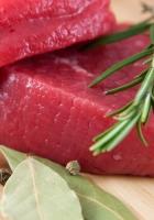 meat, herbs, chop