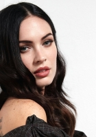 megan fox, face, brunette