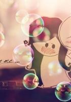 men, couple, bubbles