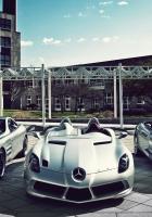 mercedes, three, sports cars
