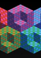 mesh, squares, geometric