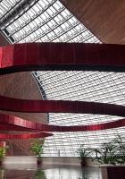 metal strip, room, ceiling