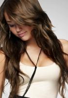 miley cyrus, brunette, dress