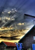 mill, house, grass