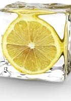 minimalism, lemon, ice