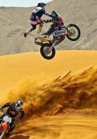 motocross, desert, motorcycle