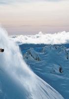 mountain skiing, descent, mountain