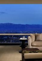mountains, hotel, window