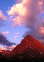 mountains, montana, clouds