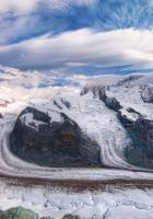 mountains, sky, snow