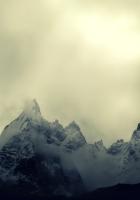 mountains, tops, snow