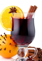 mulled wine, drink, glass