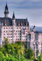 neuschwanstein castle, germany, trees