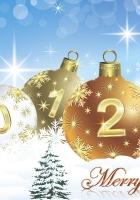 new year, christmas, card