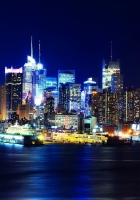 new york, night, lights