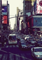 new york, street, cars
