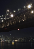 night, december, bridge