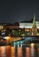 night, moscow, city lights