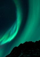 northern lights, night, night sky