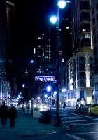 nyc, night, street