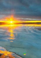 ocean, sky, light
