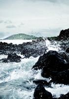 ocean, stones, water