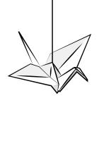 origami, bird, paper