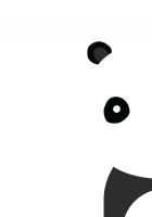 panda, smile, white