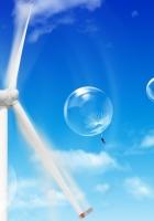 parachute, dandelion, sky