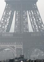 paris, eiffel tower, fog