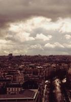 paris, eiffel tower, top view