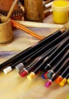 pencils, set, table
