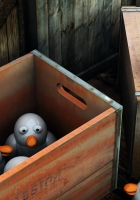 penguins, box, delivery