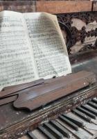 piano, music, light