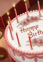 pie, candles, birthday