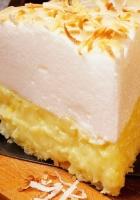 pie, cream, mousse